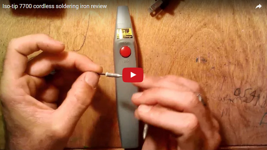 Model #7700 Rechargeable Soldering Iron Battery Review