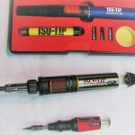 Butane powered soldering iron